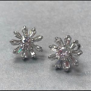 Stunning North Star Cubic Zirconia Earrings, NWT